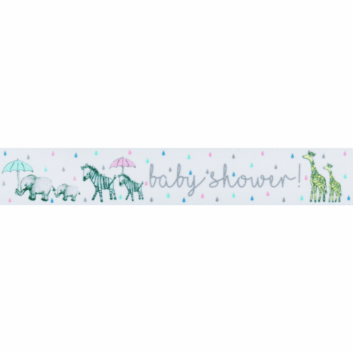 Picture of Baby Shower Parade: 25m x 25mm: White