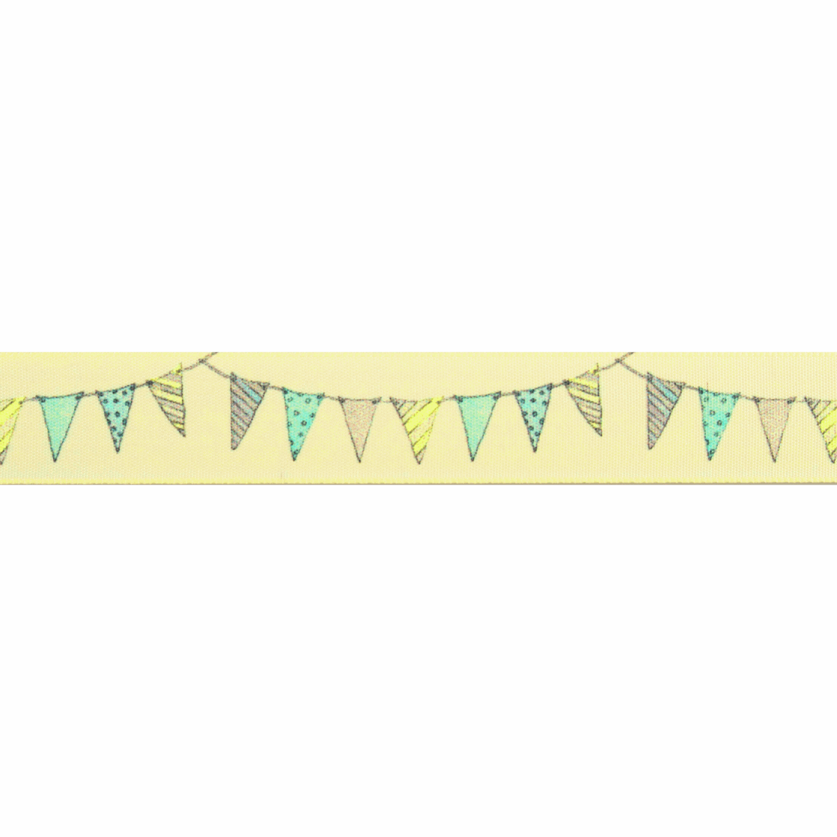 Picture of Bunting: 25m x 25mm: Pale Lemon