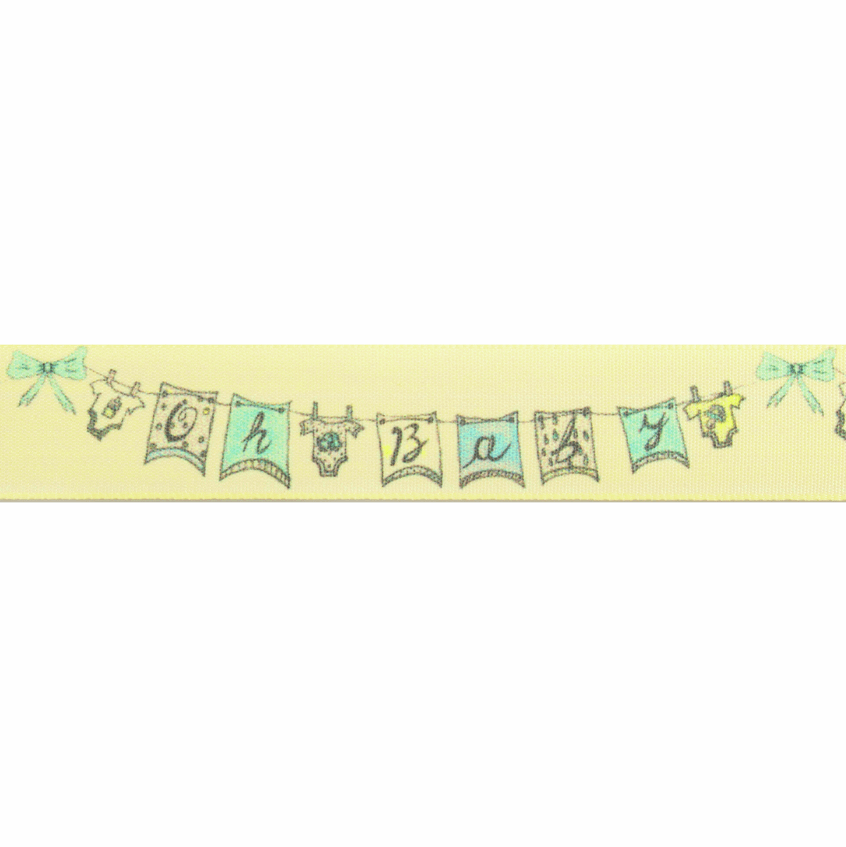 Picture of Oh Baby: 25m x 25mm: Pale Lemon