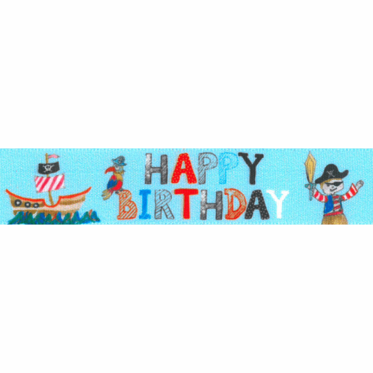 Picture of Birthday Pirate: 25m x 25mm