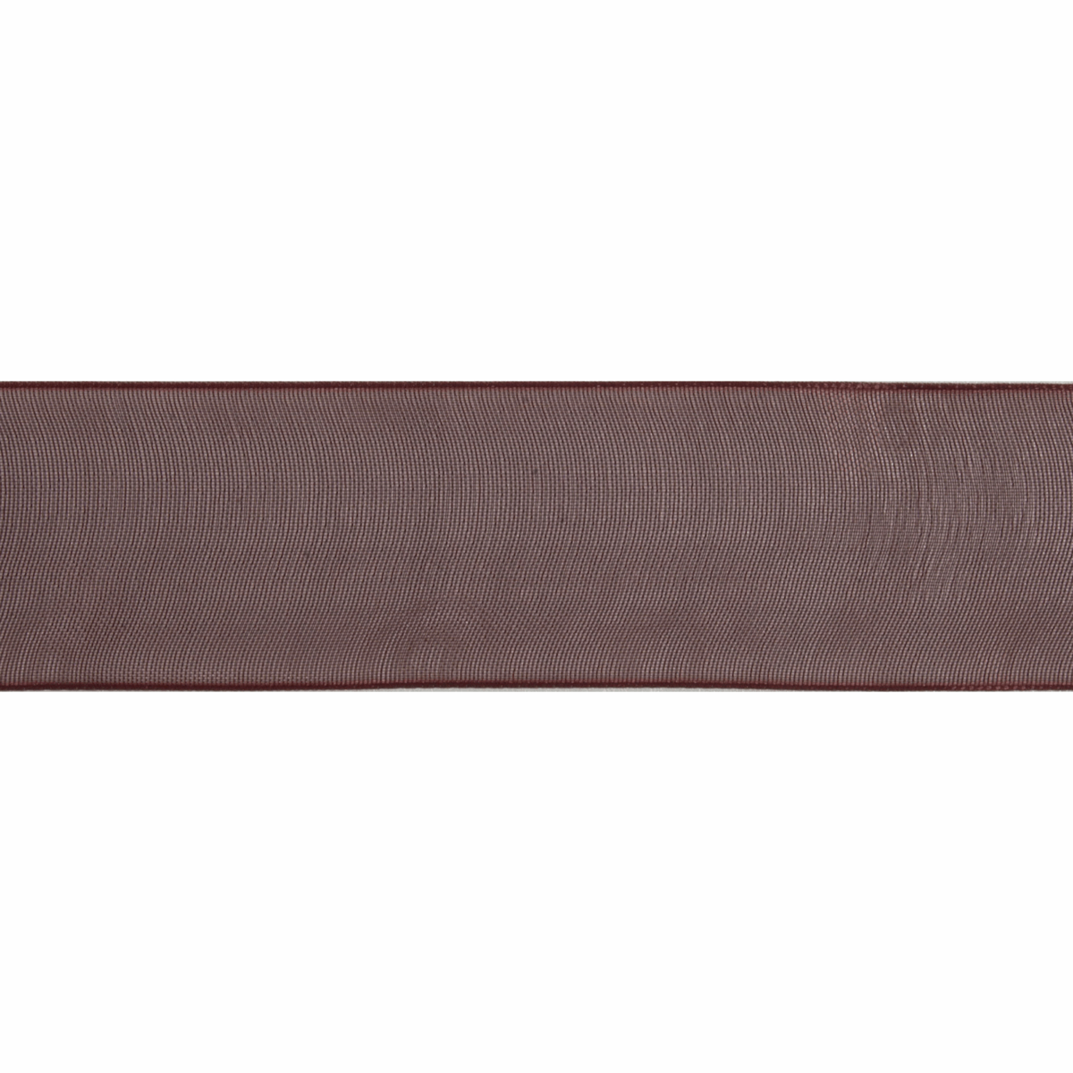 Picture of Organdie: 6m x 12mm: Chocolate