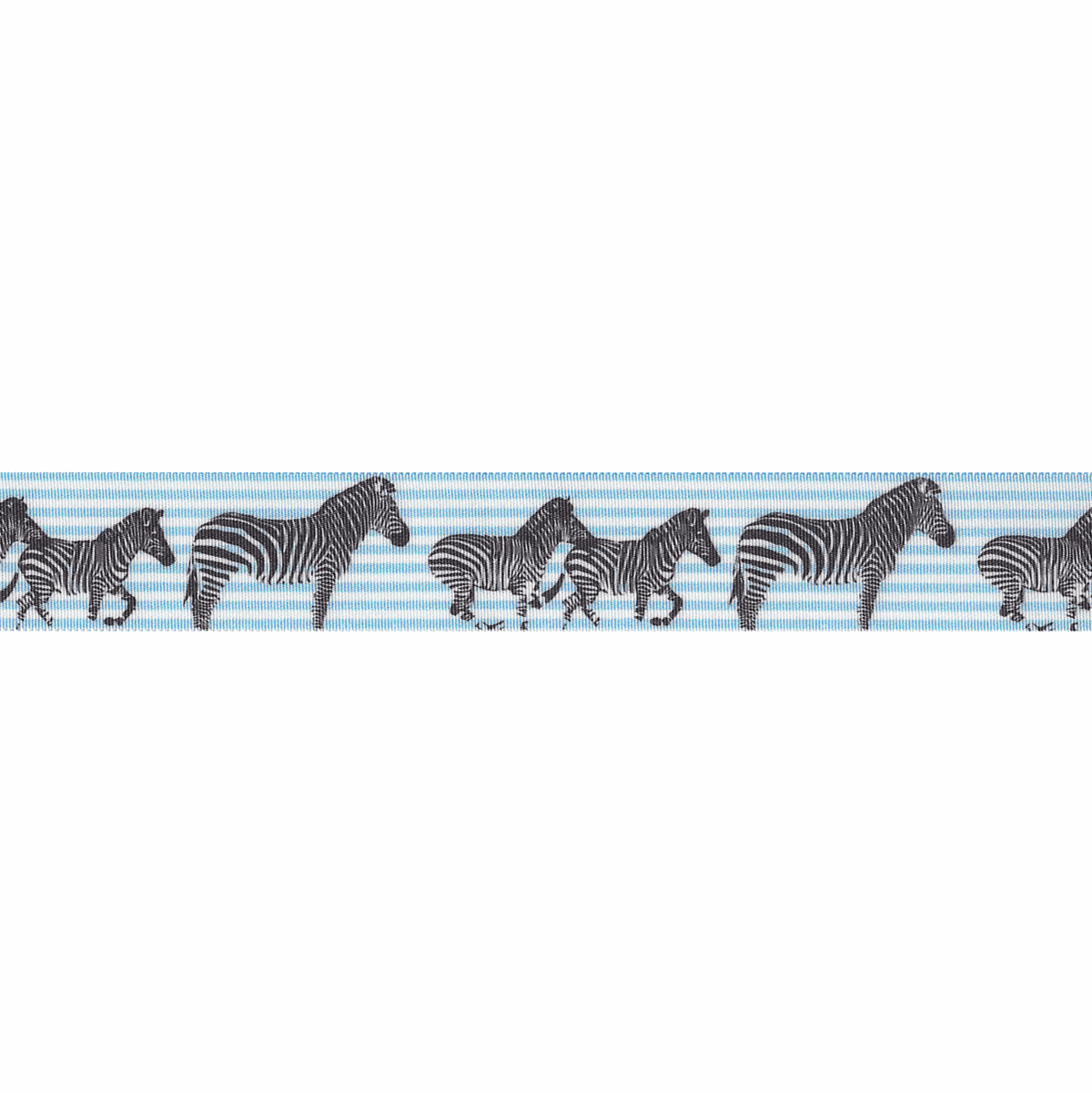 Picture of Exclusive to Groves: Zebra Stripes: White/Pale Blue: 25m x 25mm