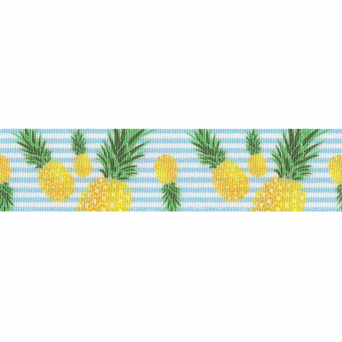 Picture of Exclusive to Groves: Pineapple Stripes: White/Pale Blue: 25m x 25mm