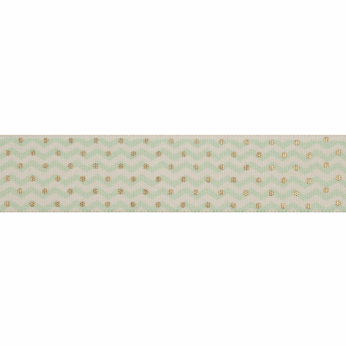 Picture of Exclusive to Groves: Zig-Zag Dot: Mint/Gold: 25m x 25mm