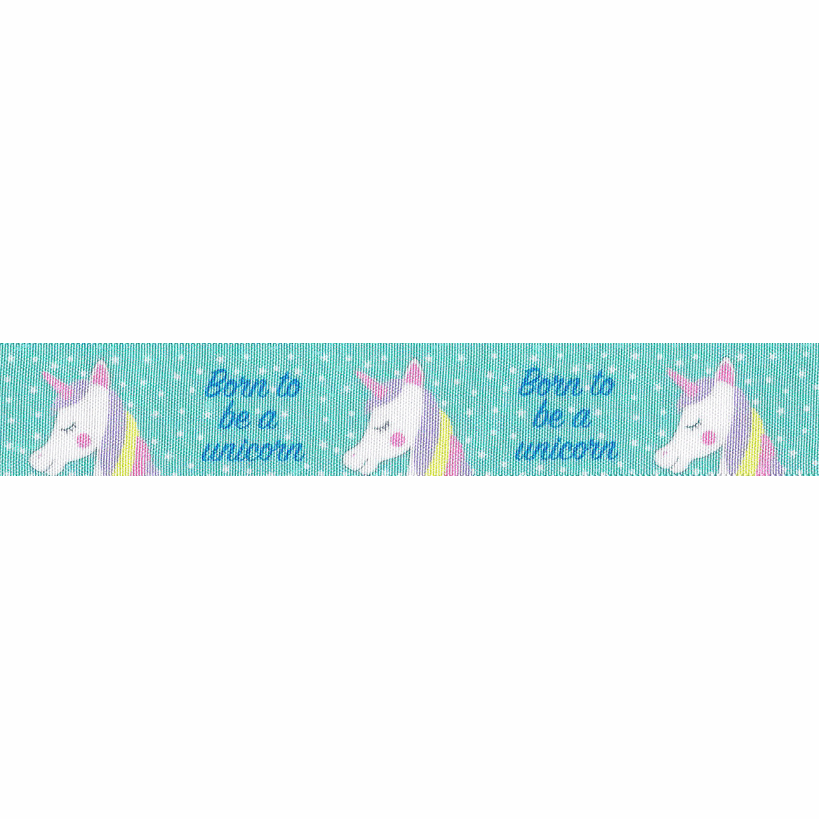 Picture of Exclusive to Groves: Born To Be A Unicorn: Teal: 25m x 25mm