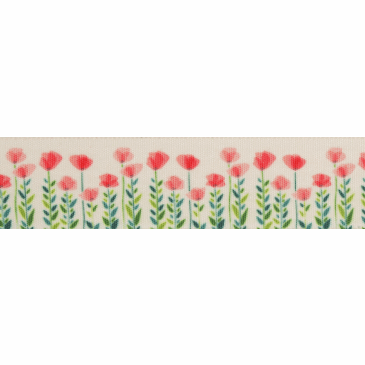 Picture of Exclusive to Groves: Poppy and Leaves: 25m x 25mm: Multi