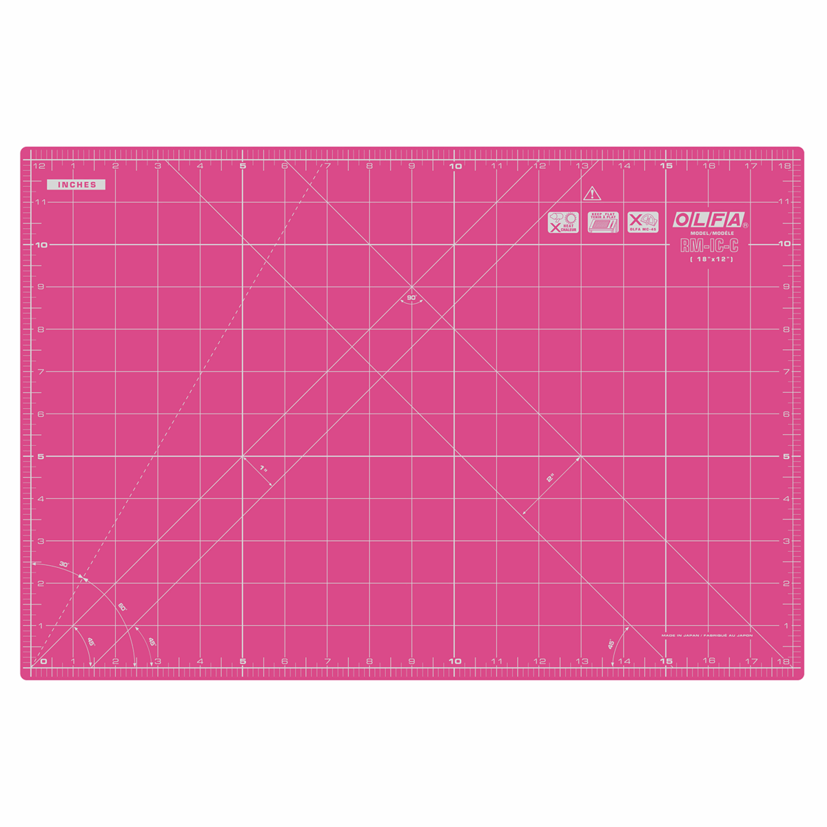 Picture of Cutting Mat: 42.5x30cm / 17x12in: Pink