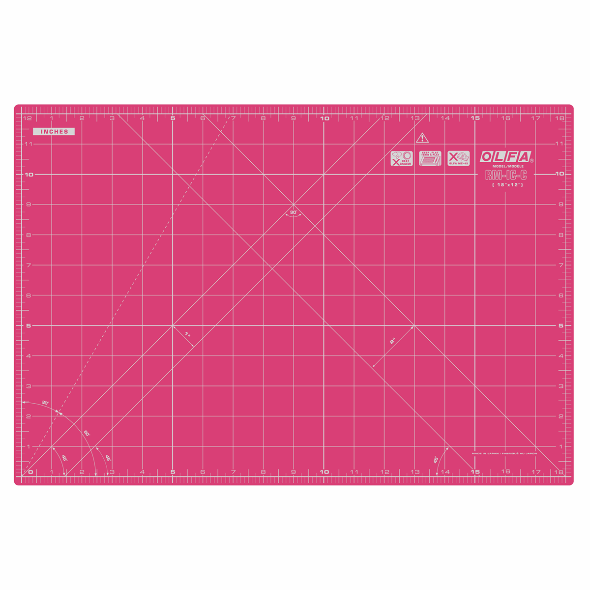 Picture of Rotary Cutting Mat: 42.5x27.5cm / 17x11in: Pink