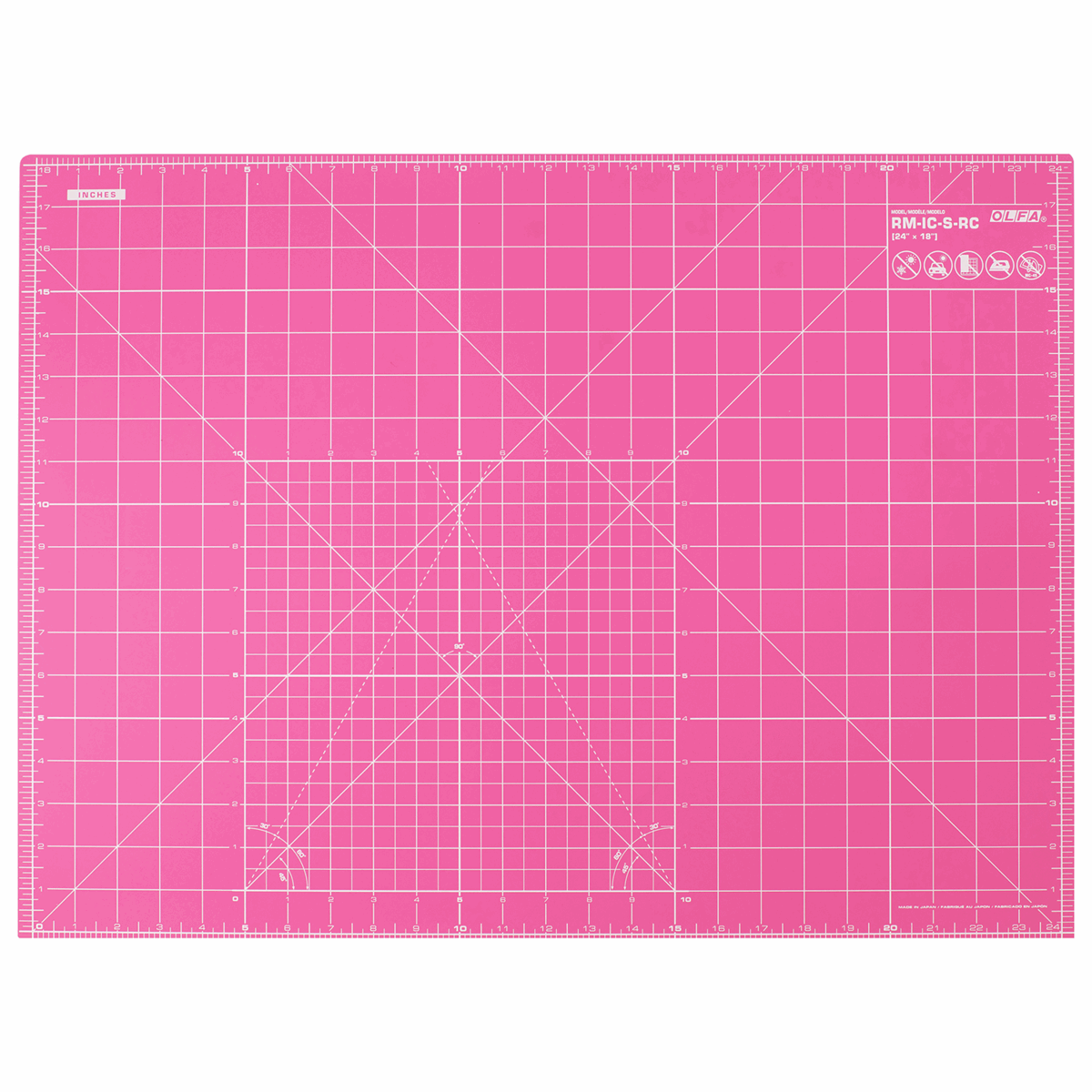 Picture of Rotary Cutting Mat: 60x45cm 23.5x17.75in: Pink