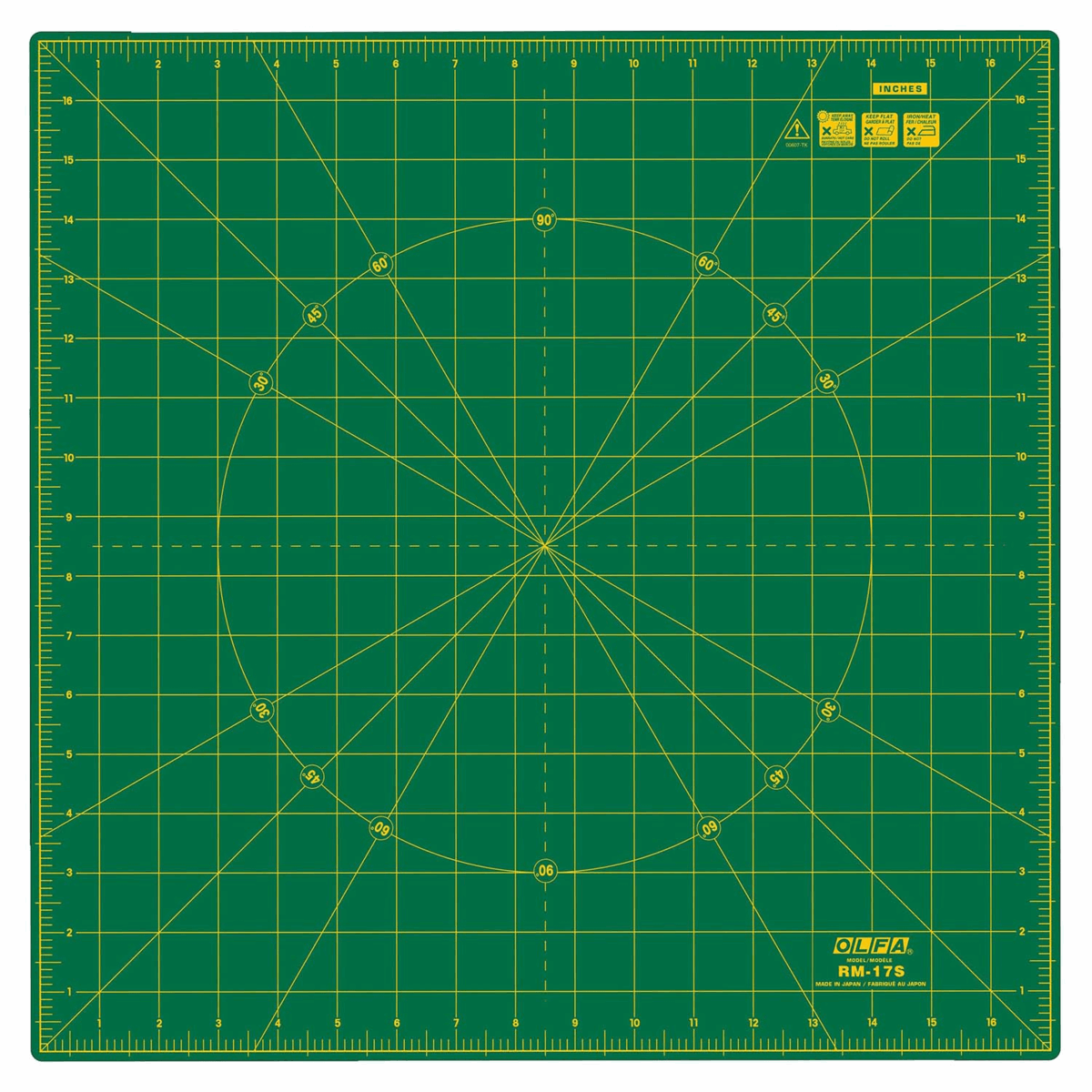Picture of Rotating Cutting Mat: 42.5x42.5cm / 17x17in
