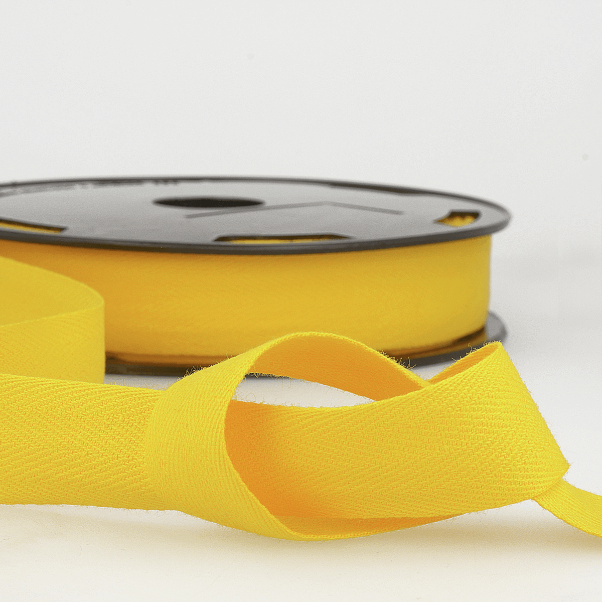 Picture of Twill Tape: Cotton: 25m x 14mm: Lemon Yellow