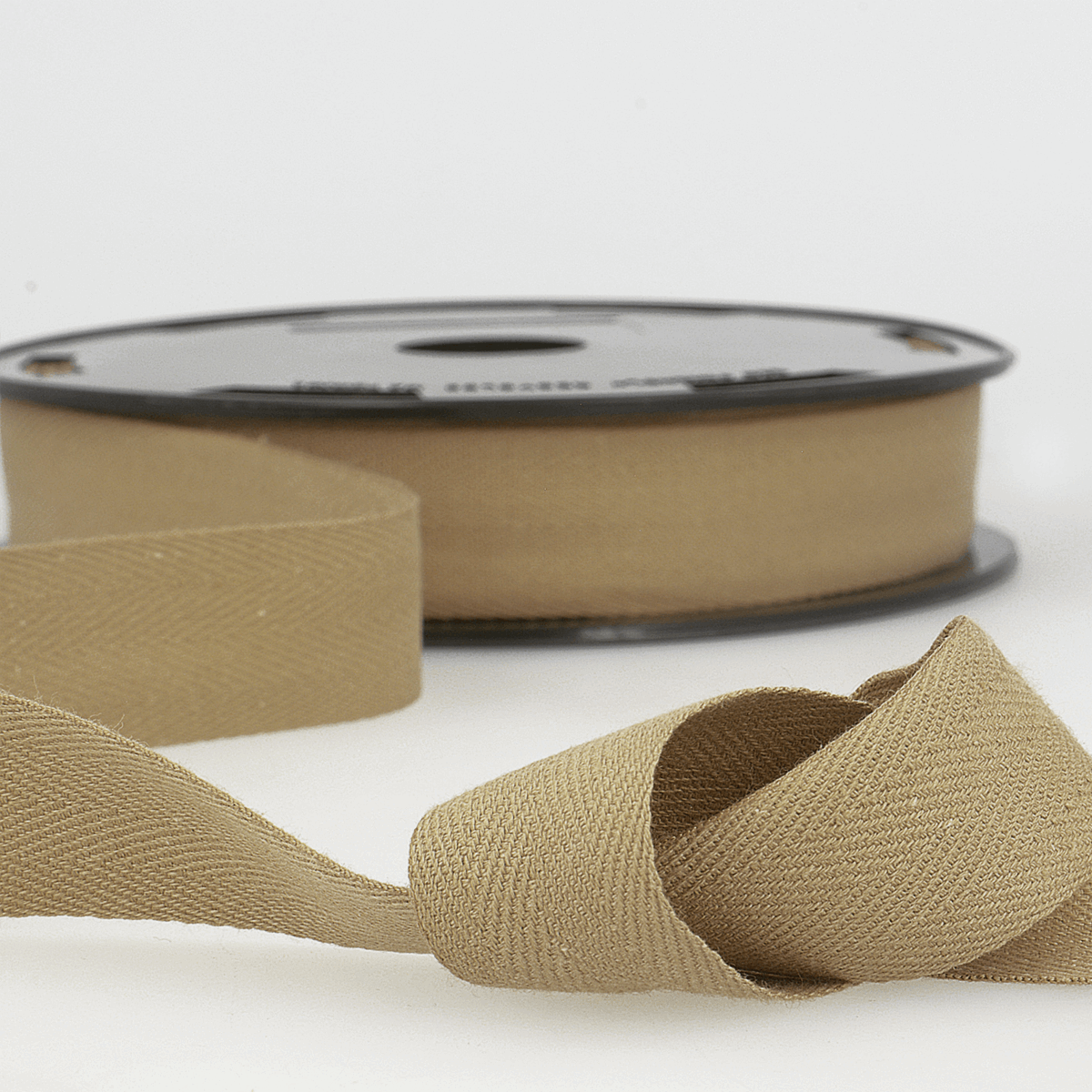 Picture of Twill Tape: Cotton: 25m x 20mm: Taupe
