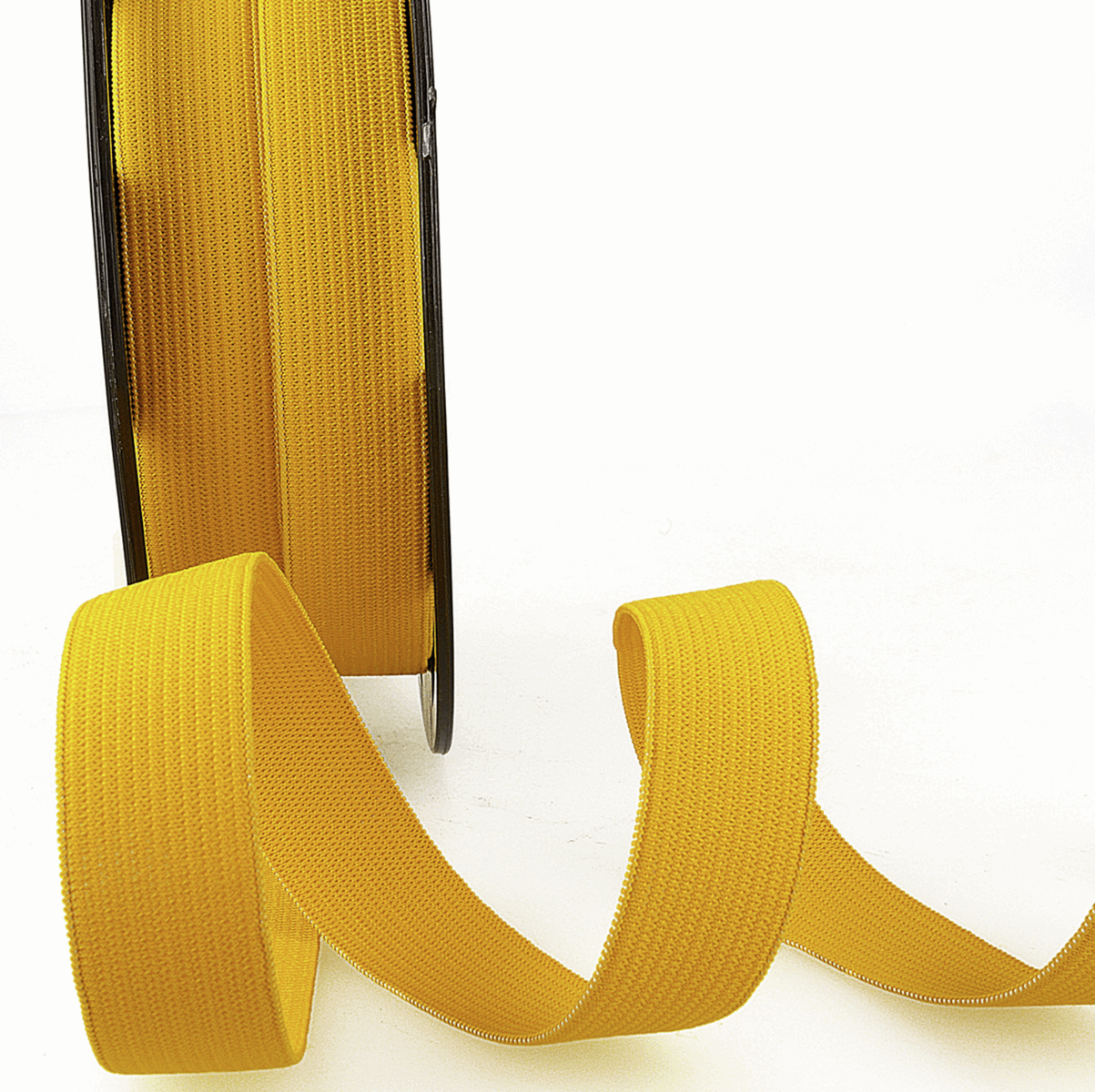 Picture of Elastic Ribbon: 50m x 5mm: Golden Yellow