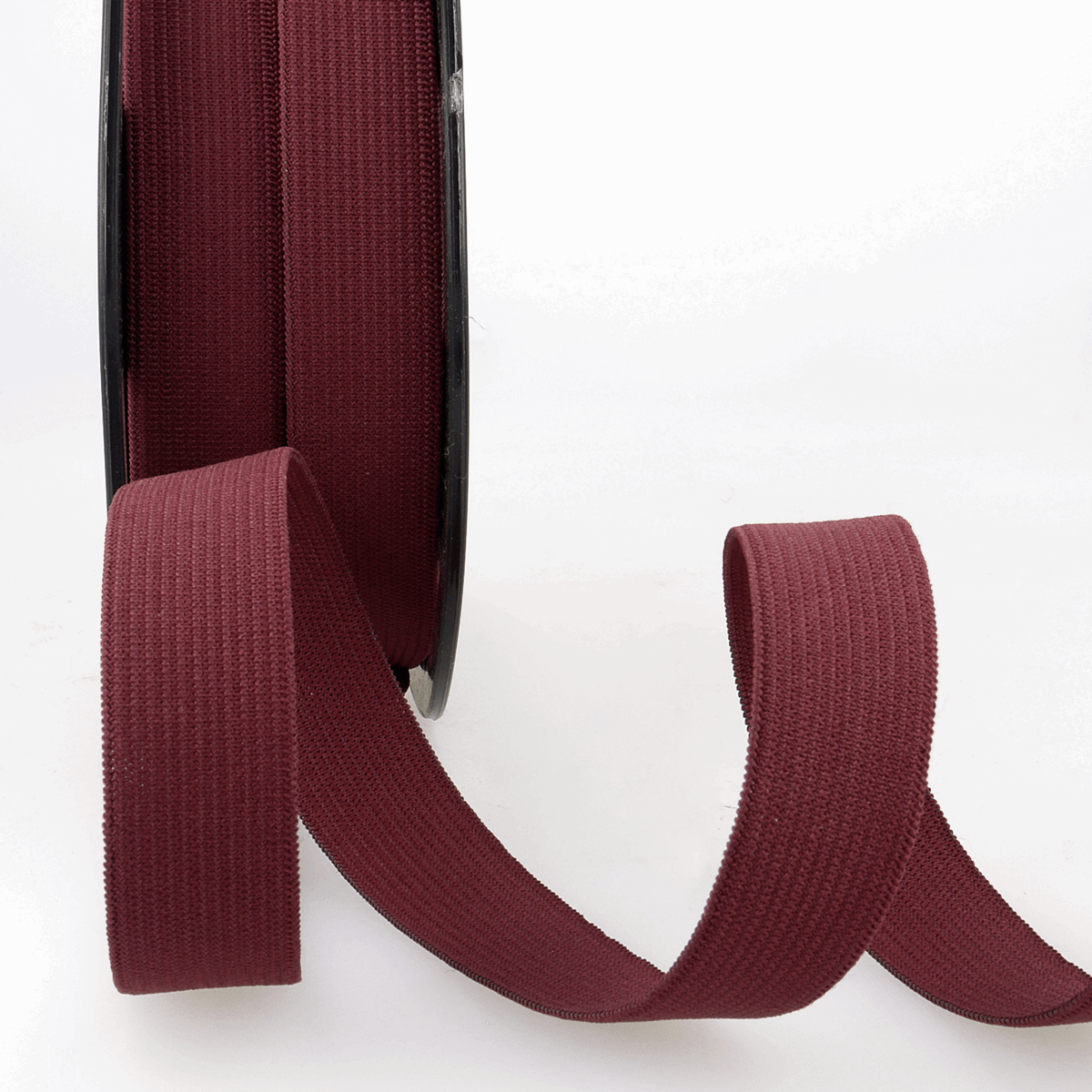 Picture of Elastic Ribbon: 50m x 5mm: Burgundy