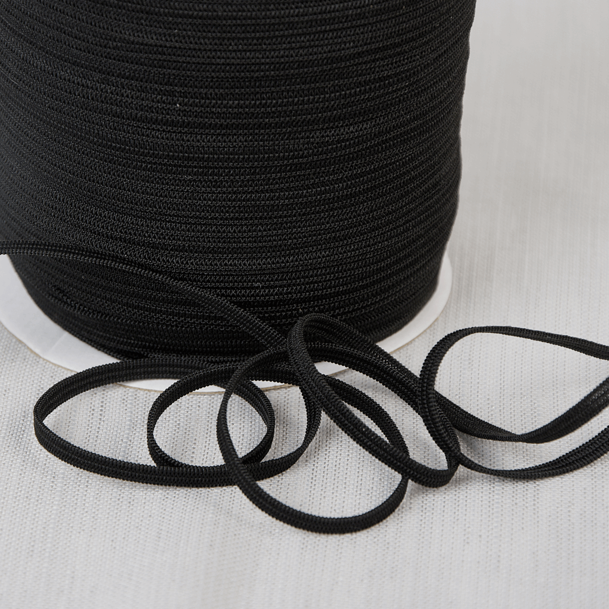 Picture of Elastic: for Mask Making: 200m x 5mm: Black