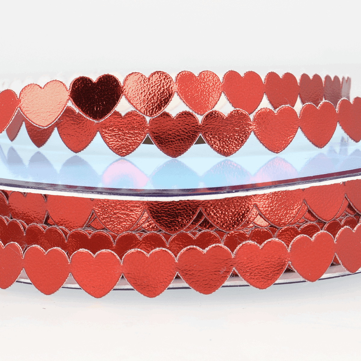 Picture of Trim: Metallic Hearts: 25m x 9mm: Red
