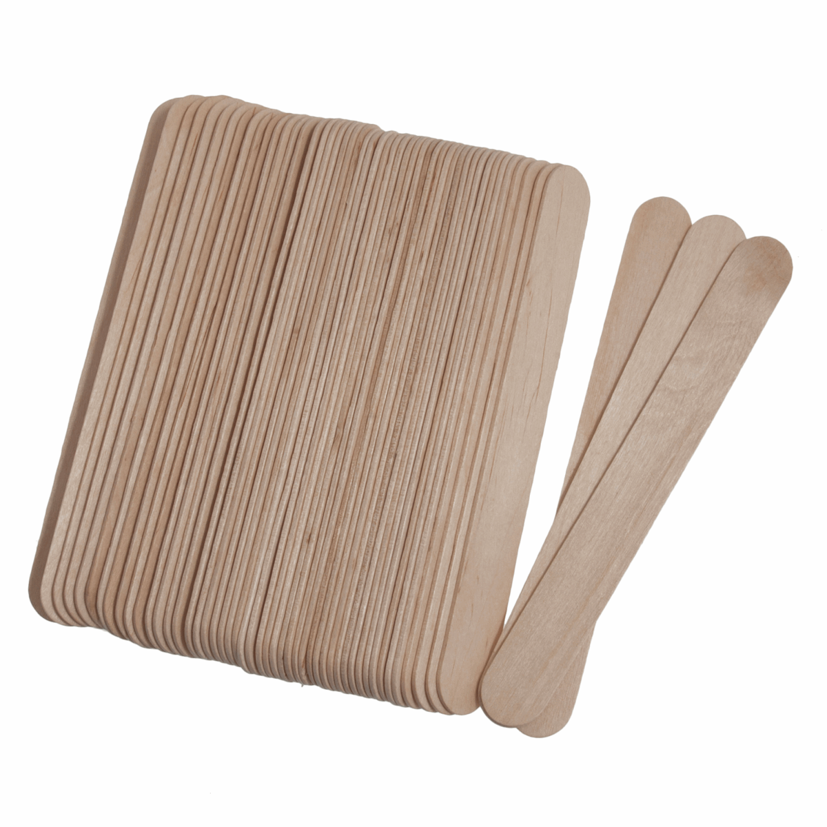 Picture of Lollypop Sticks: Wooden: Large: 150 x 18 x 1.6mm: Natural: Pack of 50