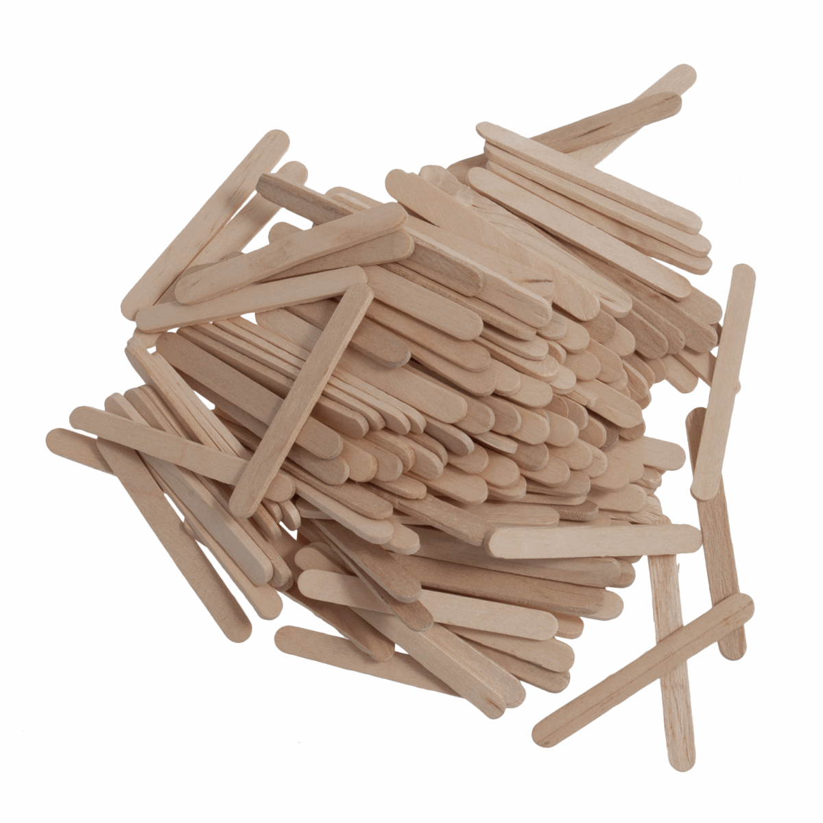 Picture of Lollypop Sticks: Wooden: Mini: 55 x 5.5 x 2mm: Natural: Pack of 300