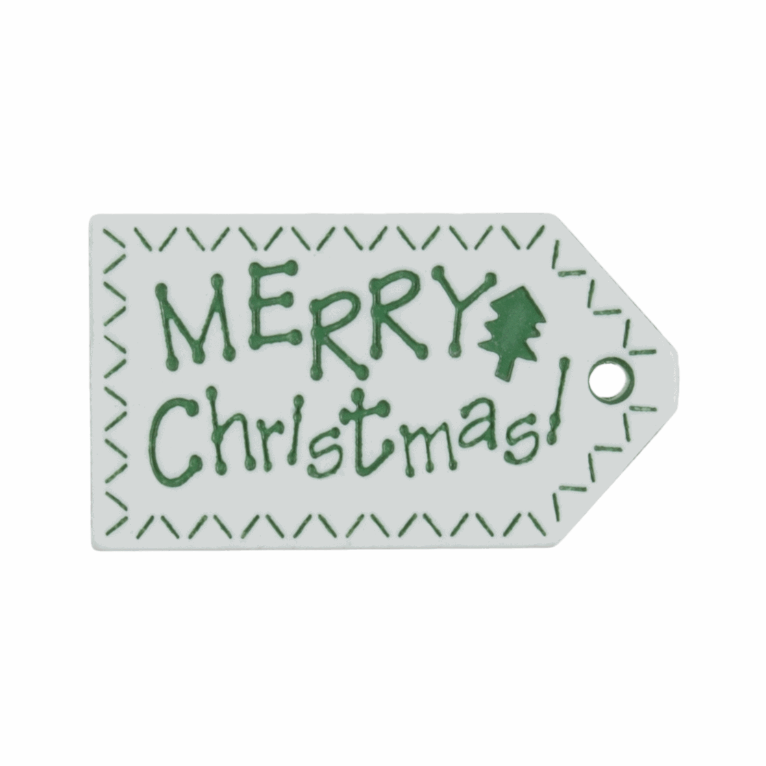Picture of Tags: Christmas: Rectangle: 41mm: Merry Christmas