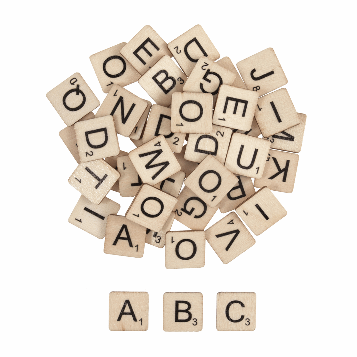Picture of Wooden Letter Tiles: Pack of 144