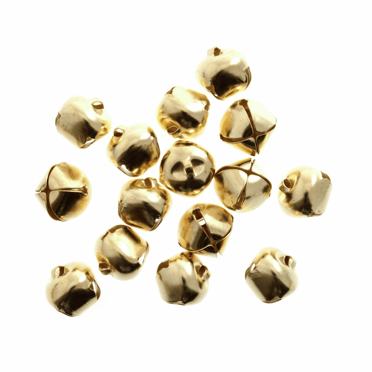 Picture of Bells: Jingle: 6mm: Gold: Pack of 100