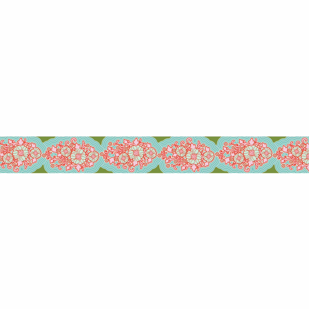 Picture of Sunkiss: Jacquard Ribbon: 10m x 30mm: Teal