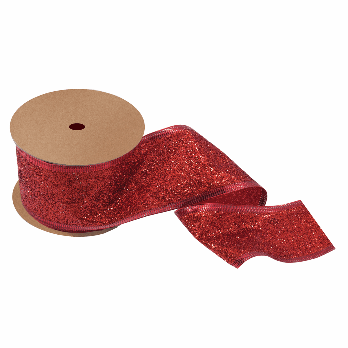 Picture of Glitter Ribbon: 10m x 63mm: Red
