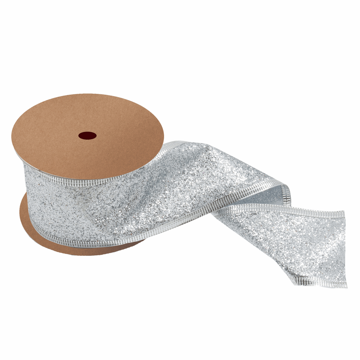 Picture of Glitter Ribbon: 10m x 63mm: Silver