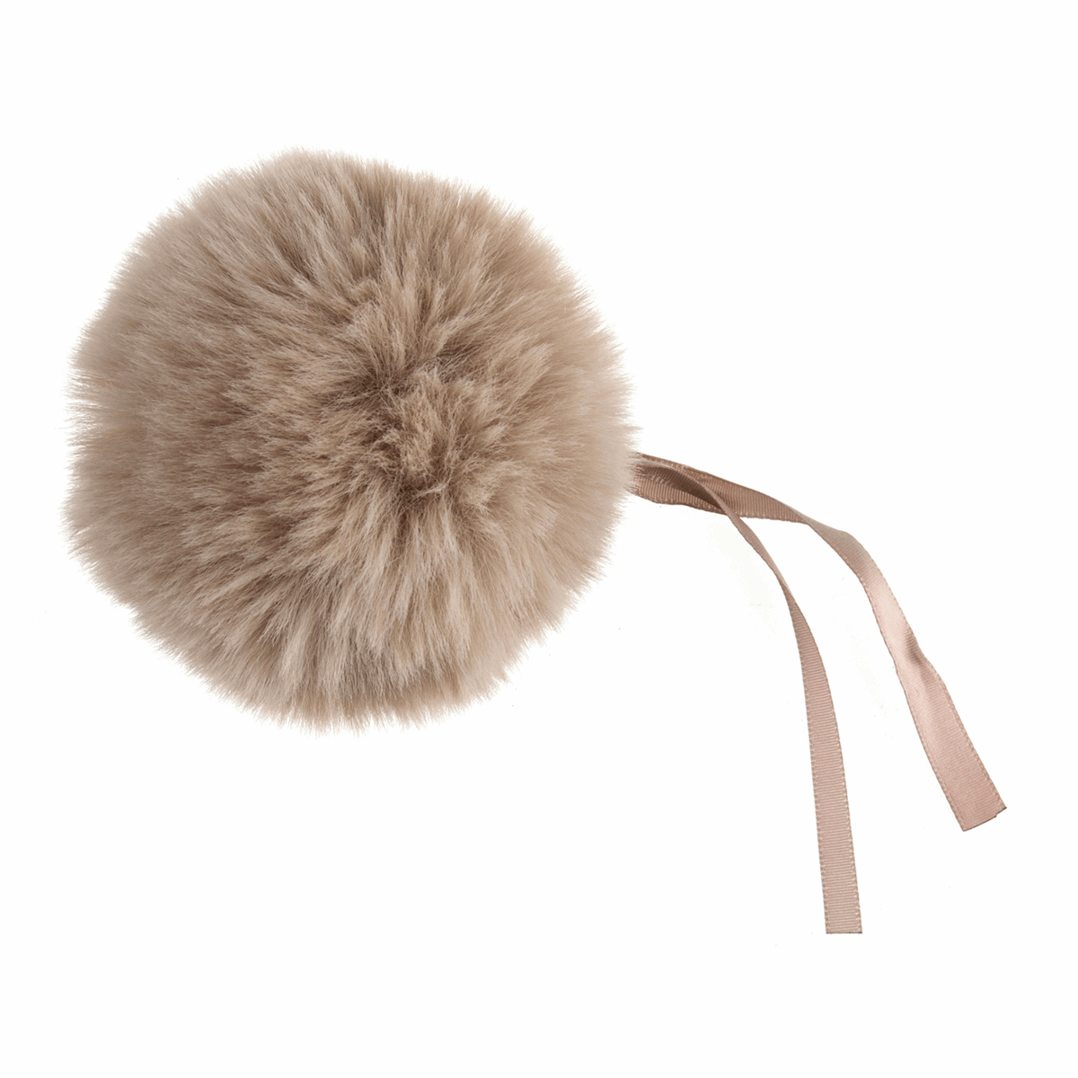 Picture of Pom Pom: Faux Fur: 11cm: 1 Piece: Natural