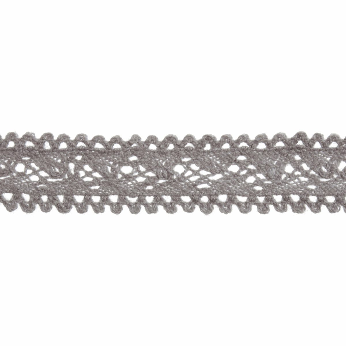 Picture of Cotton Lace: 4m x 18mm: Grey