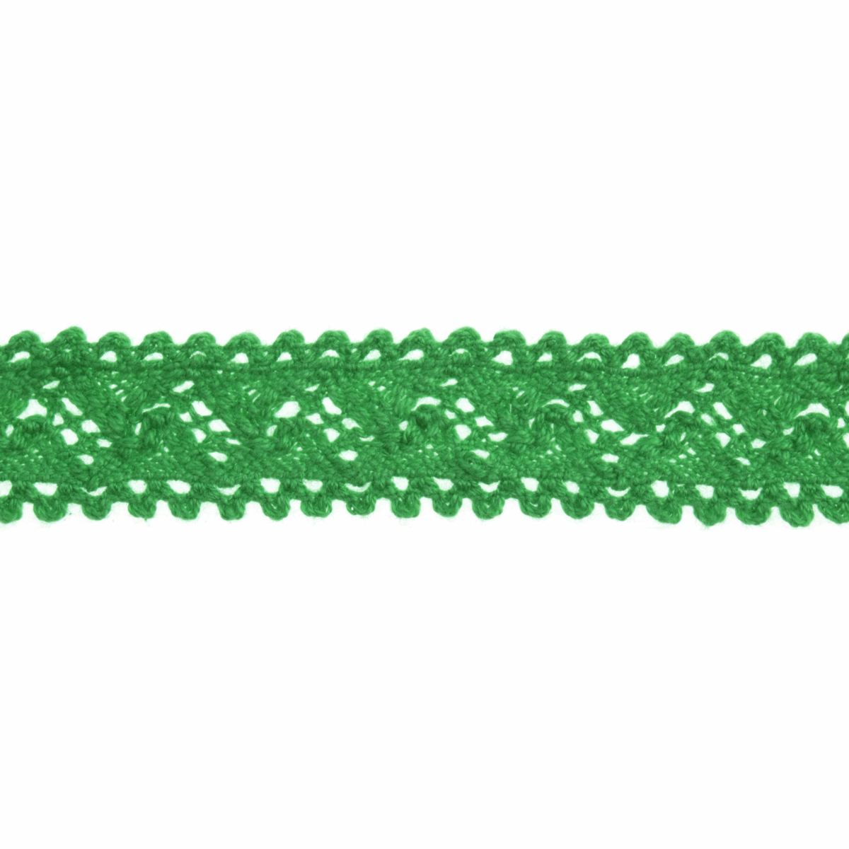 Picture of Cotton Lace: 4m x 18mm: Green