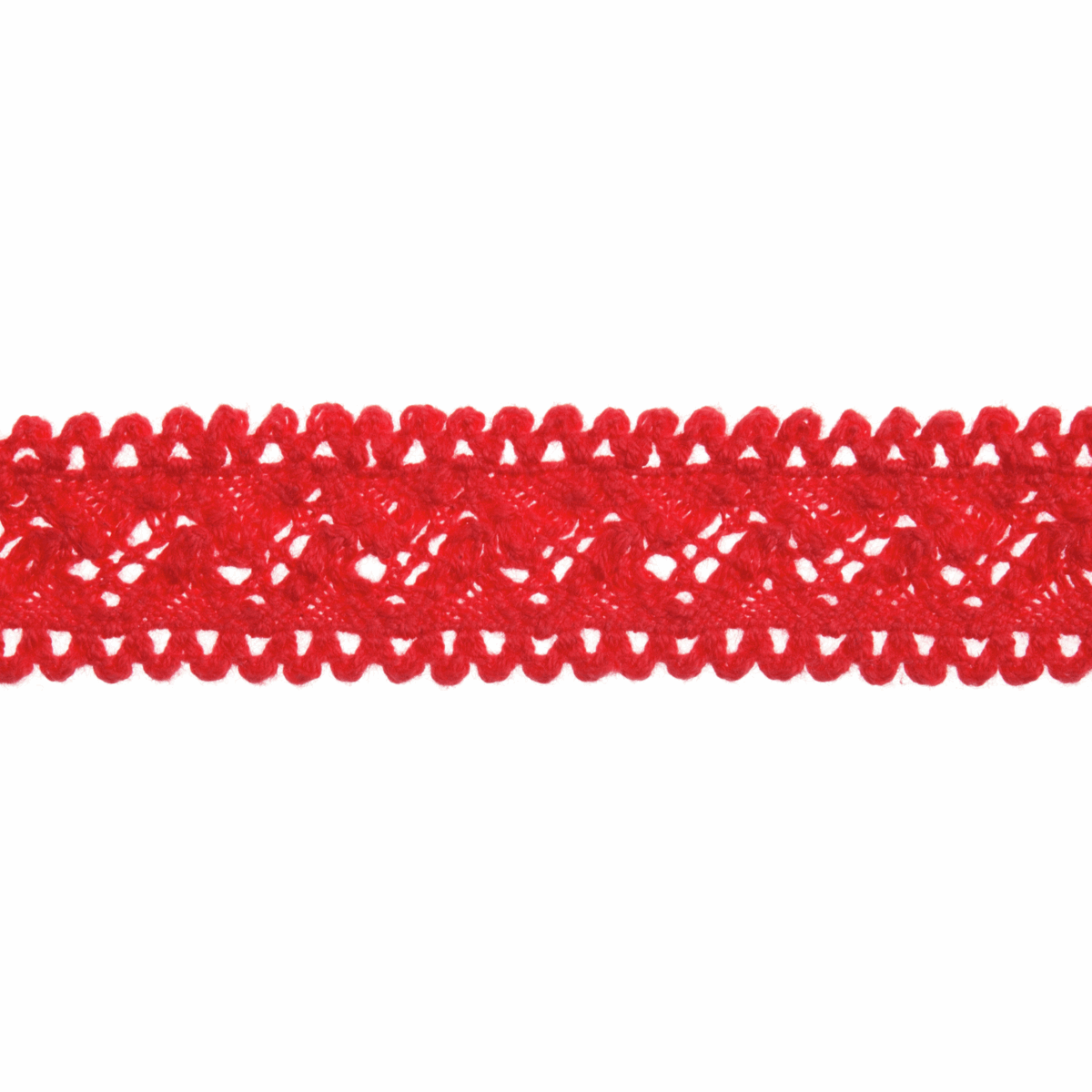 Picture of Cotton Lace: 4m x 18mm: Red