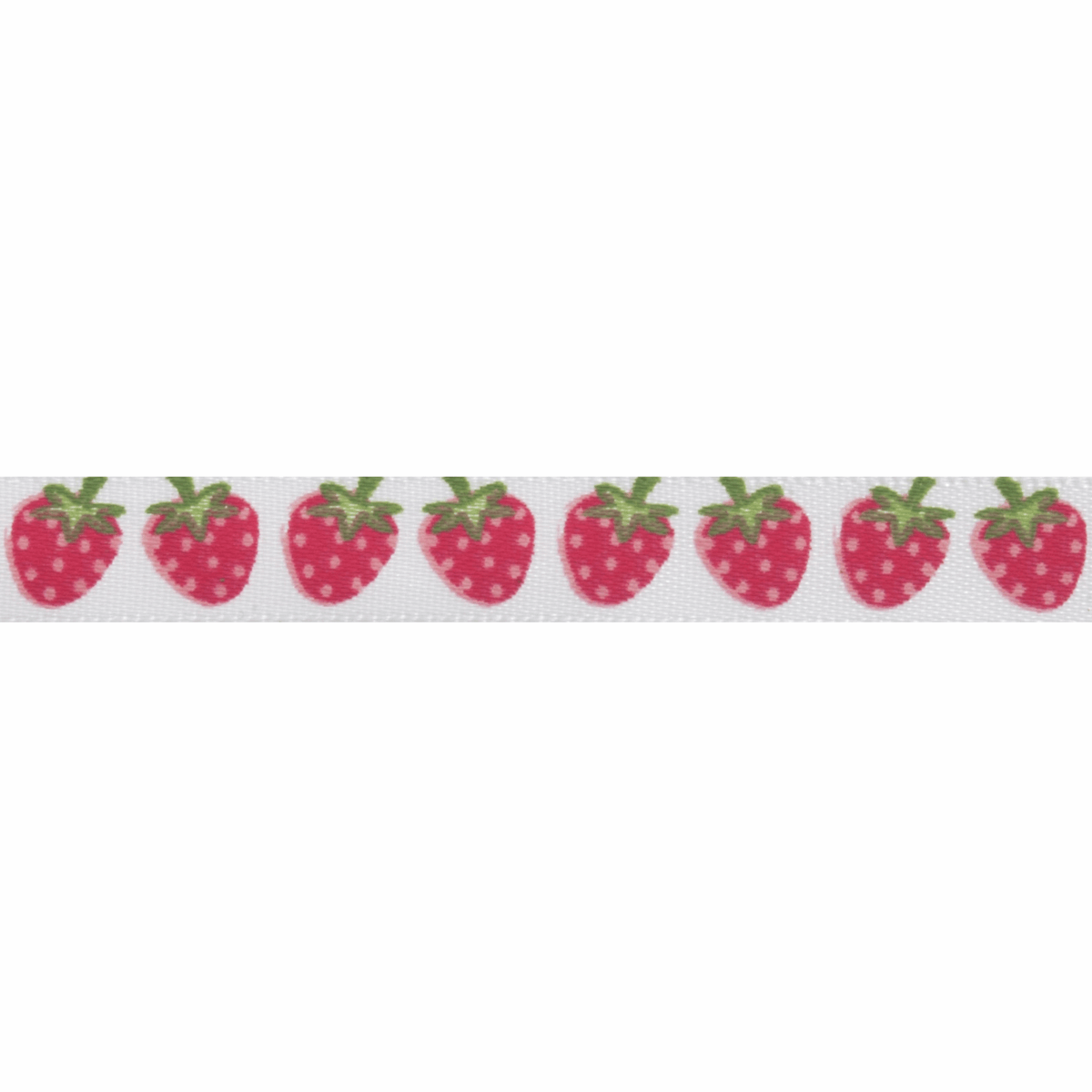 Picture of Satin 5m x 10mm: Strawberries