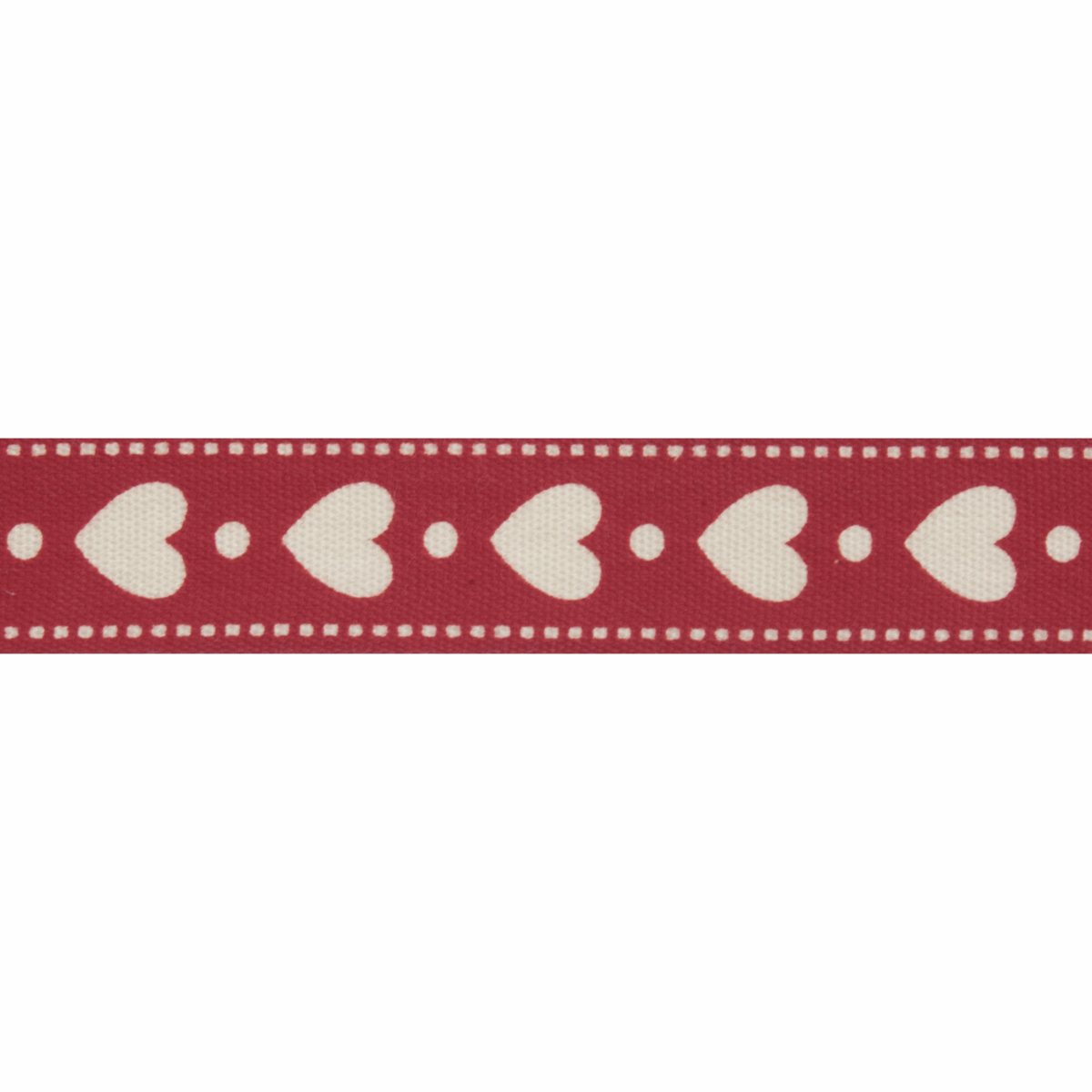 Picture of Natural: 5m x 15mm: Hearts: Red