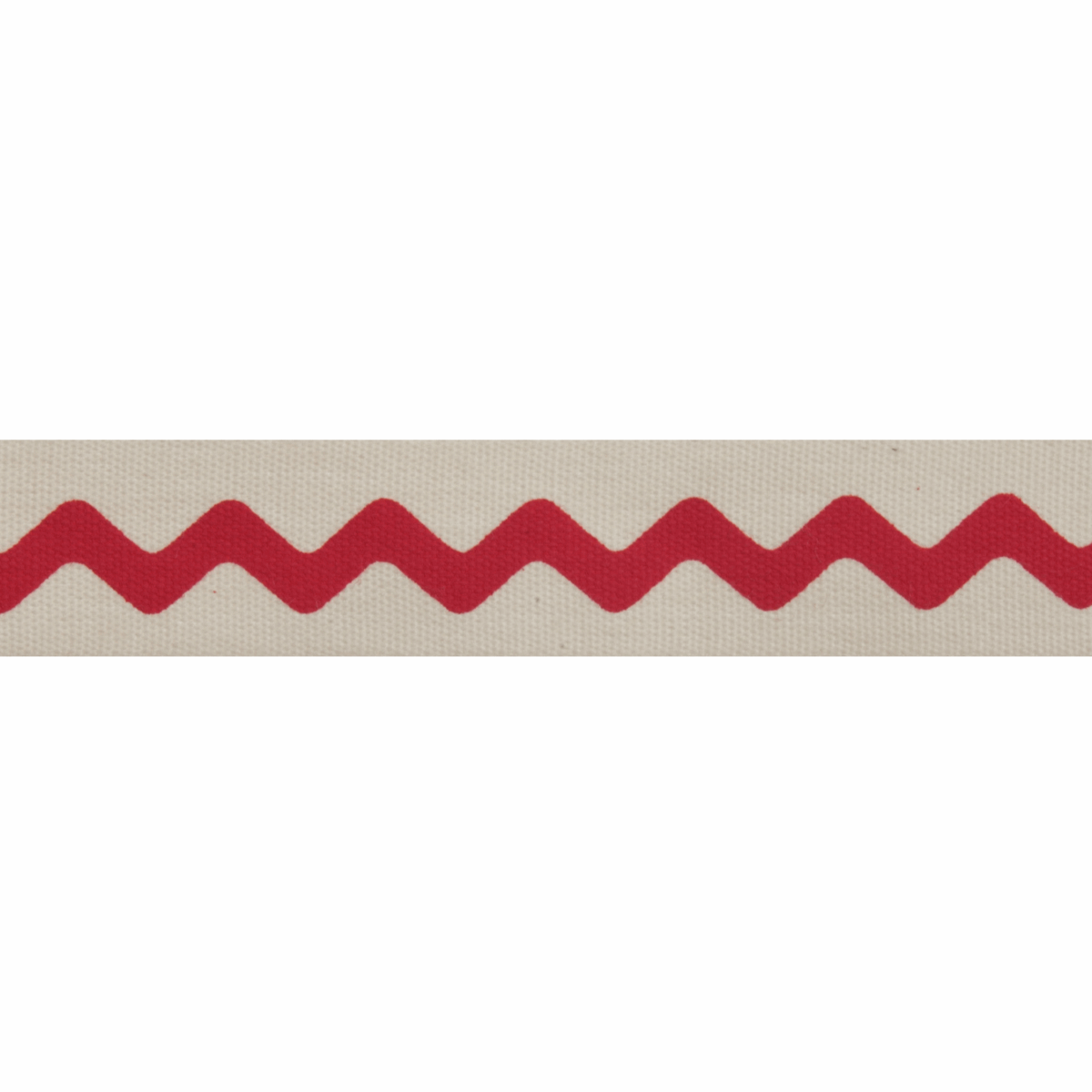 Picture of Natural: 5m x 15mm: Zigzag: Red