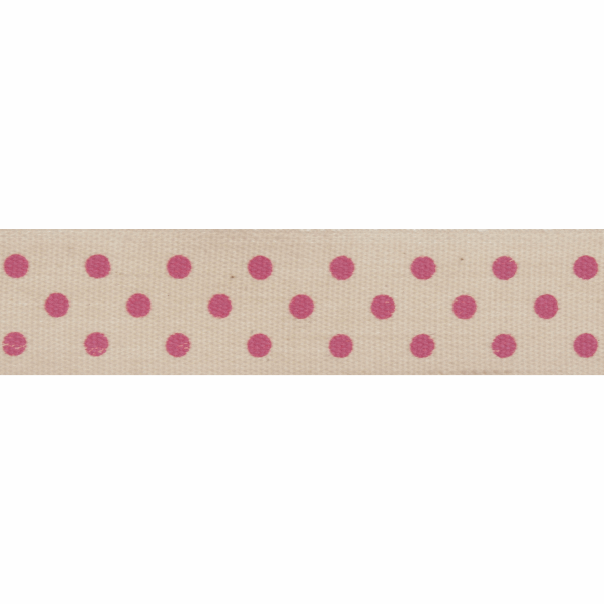 Picture of Natural: 5m x 15mm: Dots: Pink