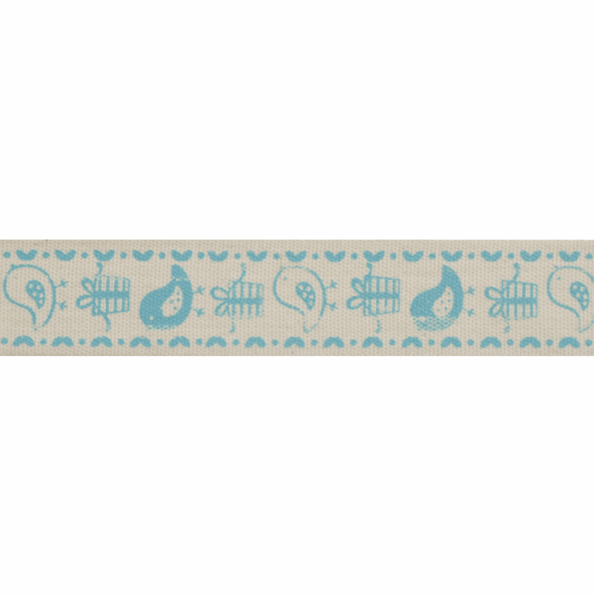 Picture of Natural: 5m x 15mm: Birds & Gifts: Blue