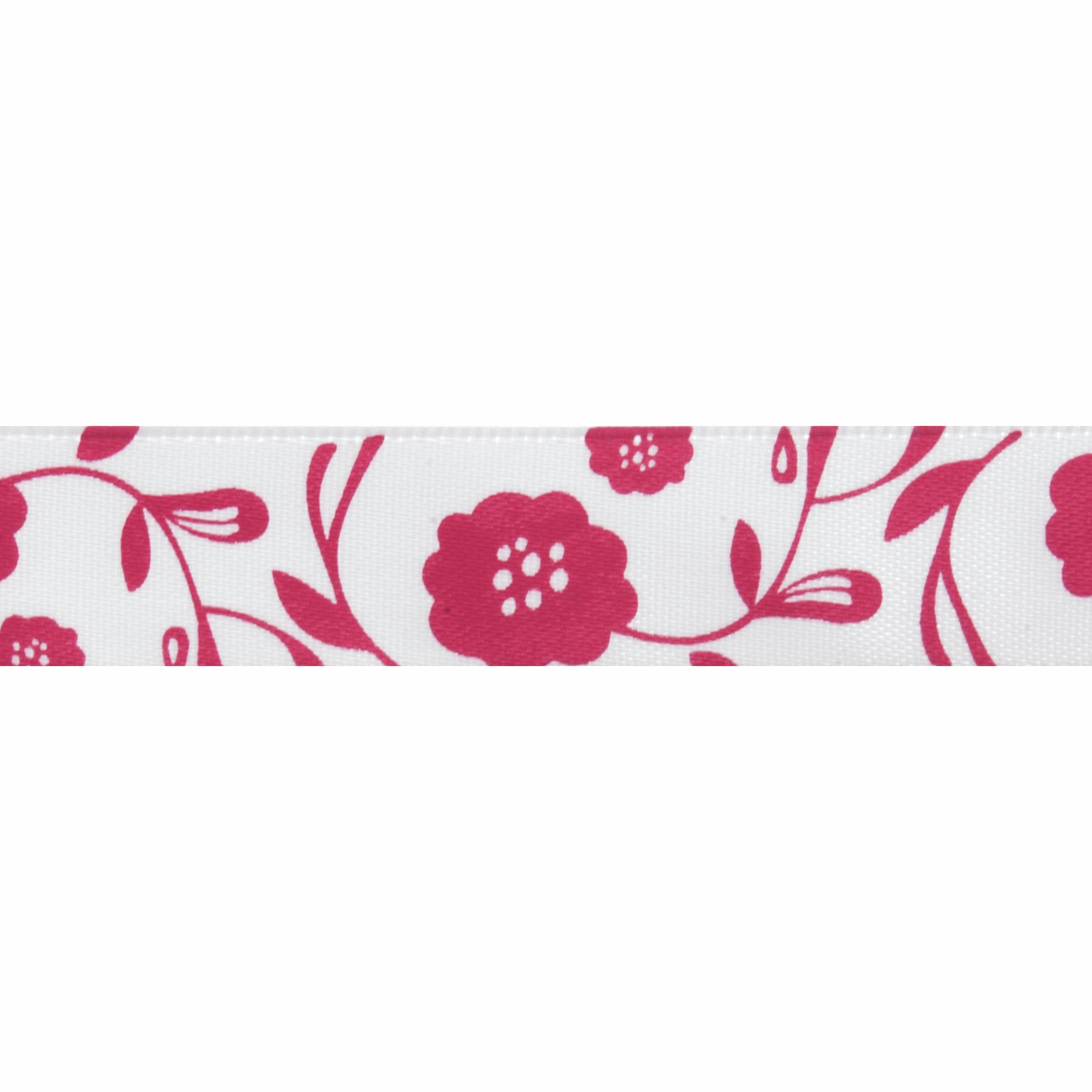 Picture of Satin: 5m x 15mm: Floral: Pink