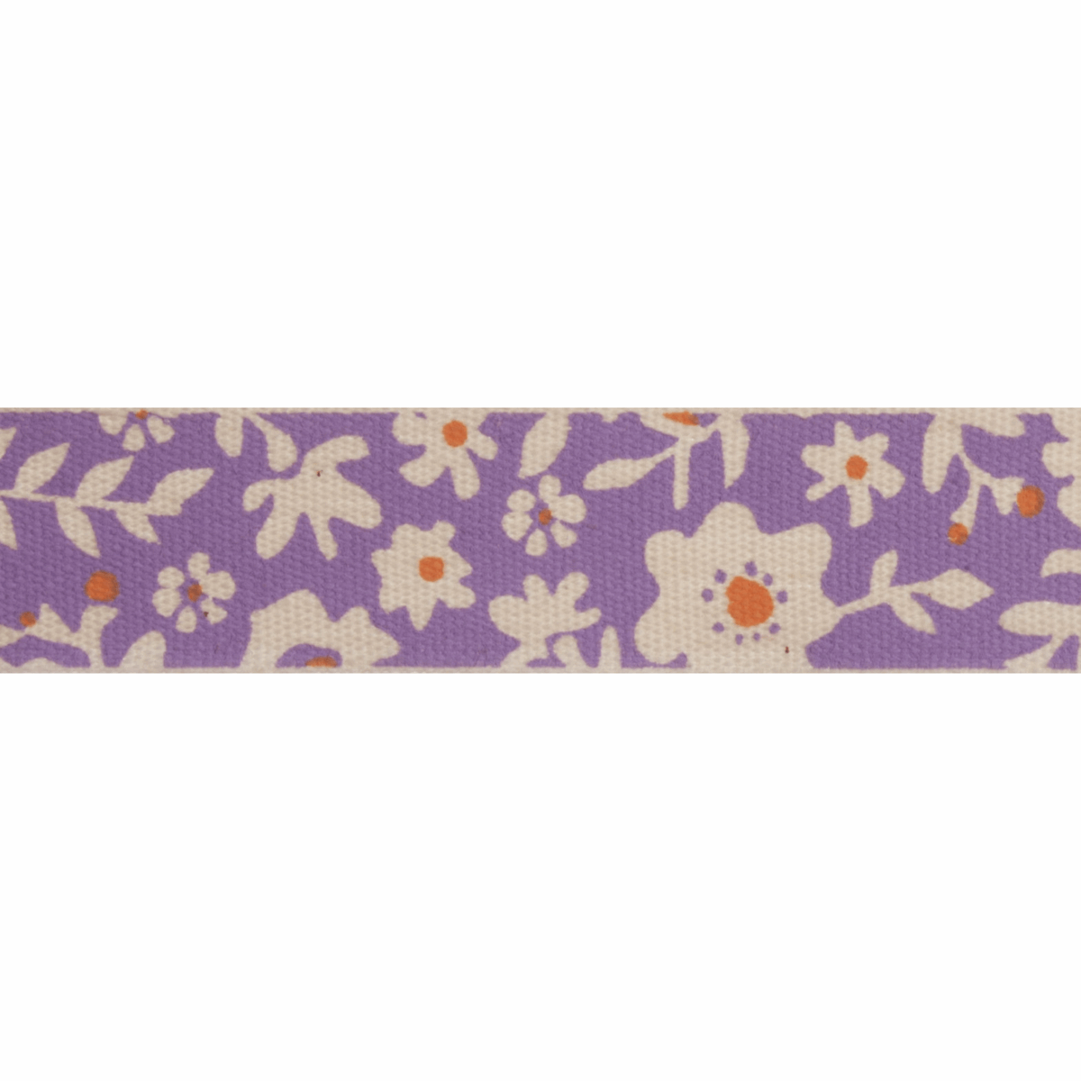 Picture of Natural: 5m x 15mm: Floral: Lilac & Orange