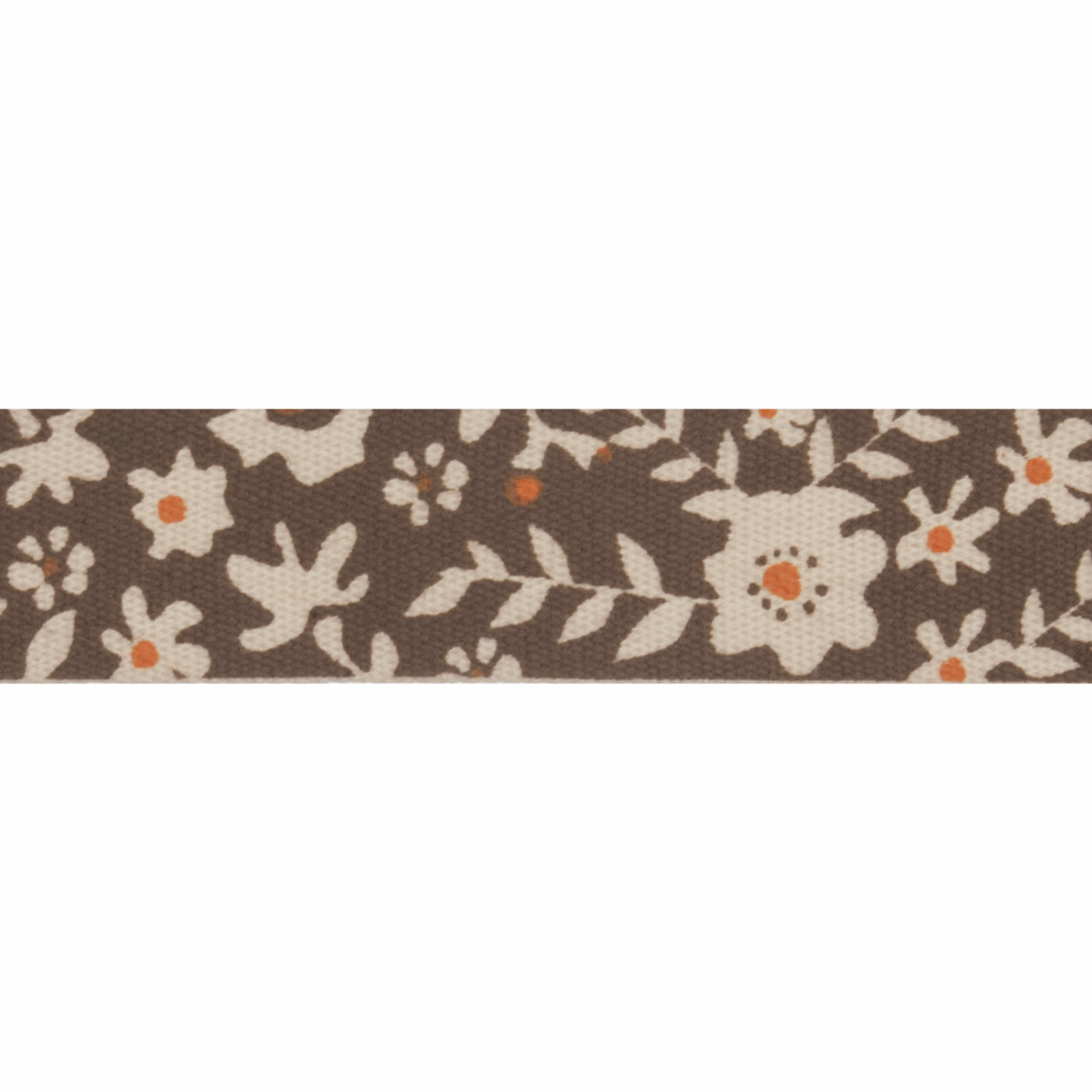 Picture of Natural: 5m x 15mm: Floral: Brown & Orange