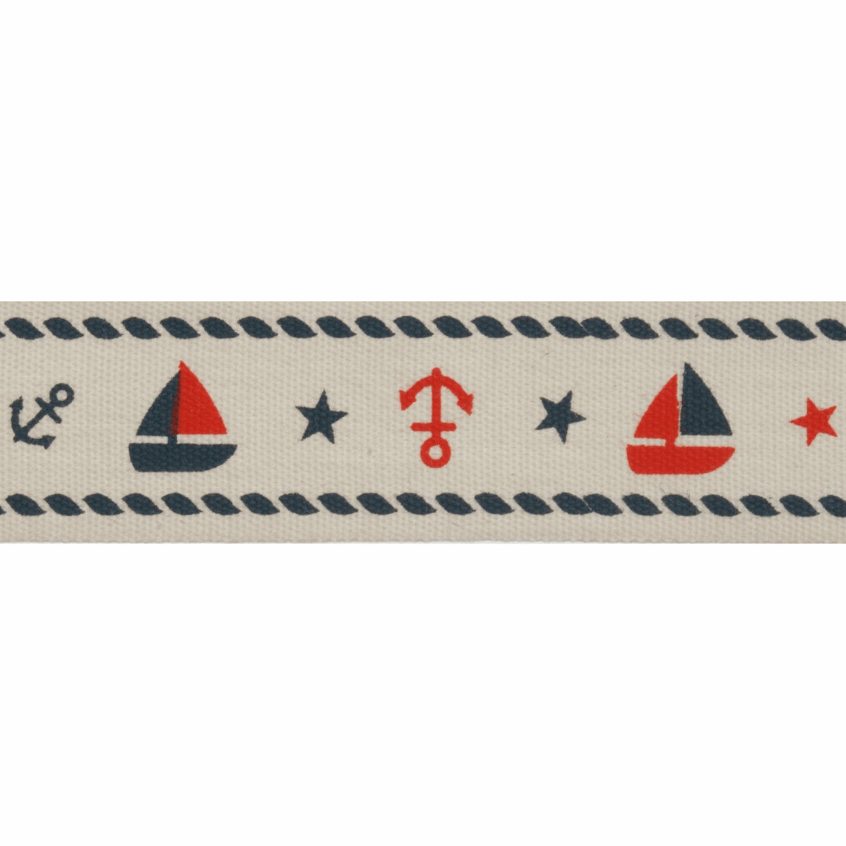 Picture of Natural: 5m x 20mm: Nautical: Red & Navy