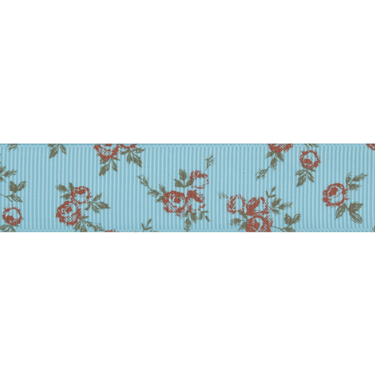 Picture of Grosgrain: 5m x 20mm: Pink Rose: Blue