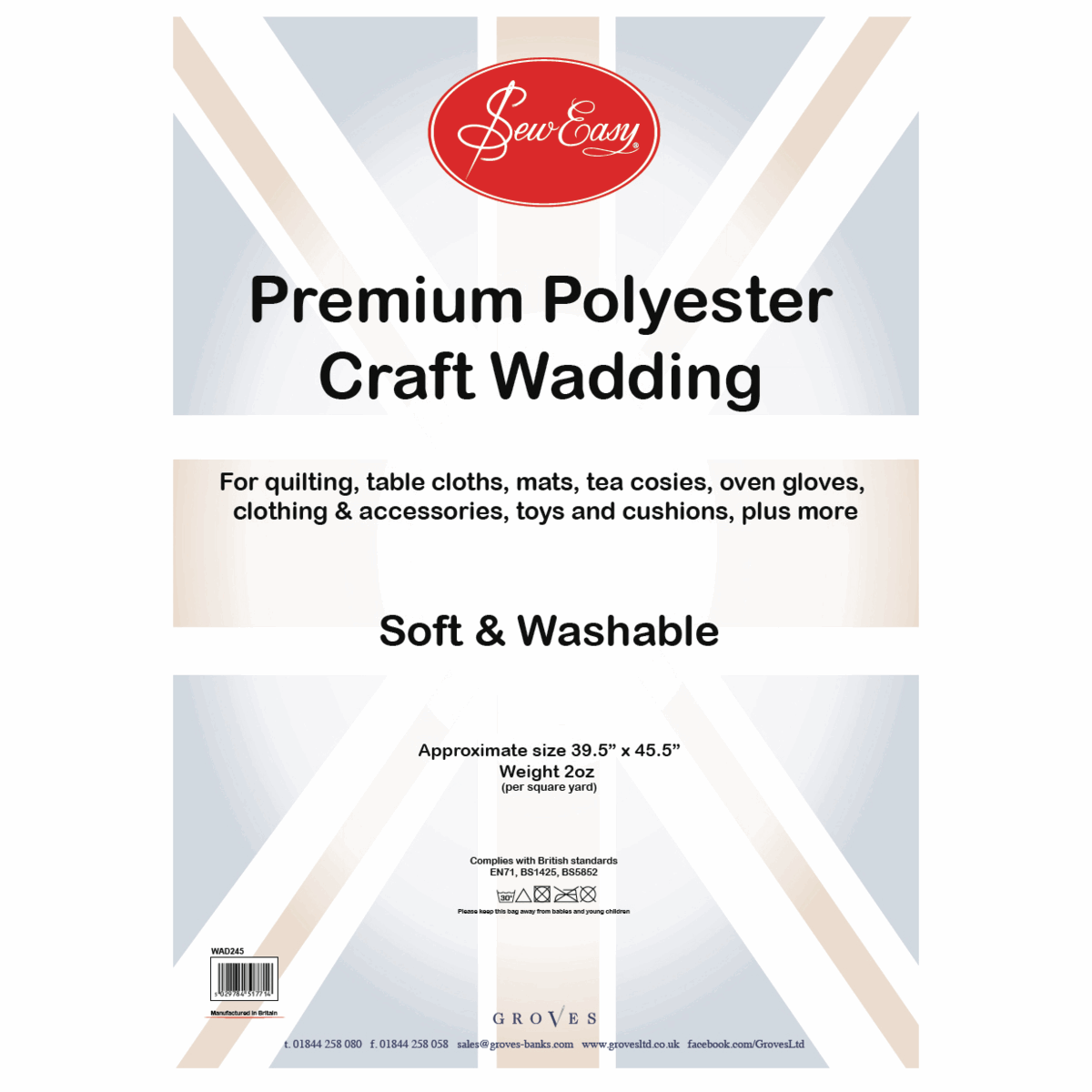 Picture of Poly Wadding: 2oz: 100 x 115cm (39.5 x 45.5in)
