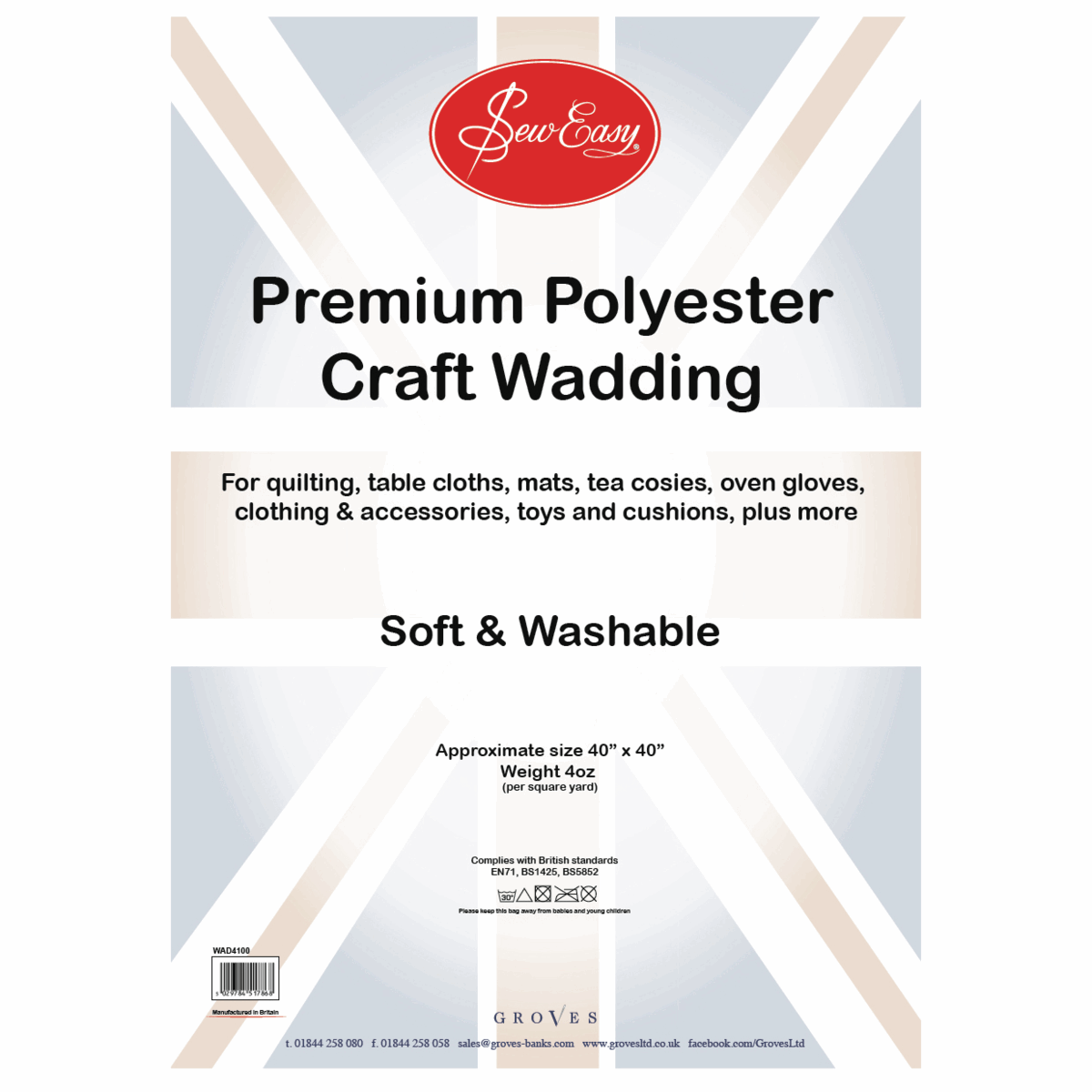 Picture of Poly Wadding: 4oz: 100cm x 100cm (40in)