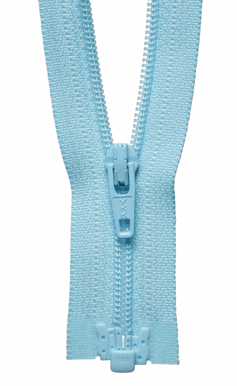 Picture of Light-Weight Open End Zip: 25cm: Light Blue
