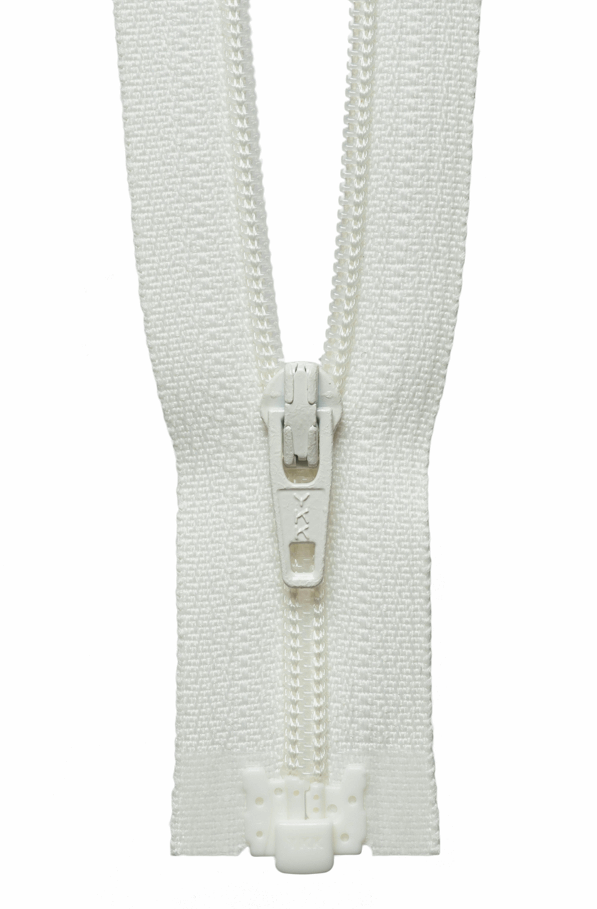 Picture of Light-Weight Open End Zip: 25cm: Cream