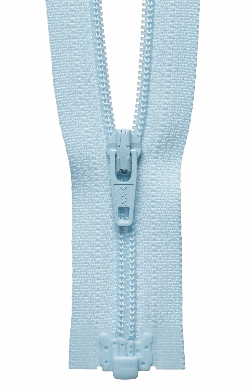 Picture of Light-Weight Open End Zip: 25cm: Baby Blue