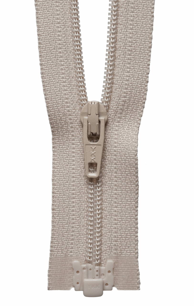 Picture of Light-Weight Open End Zip: 25cm: Beige
