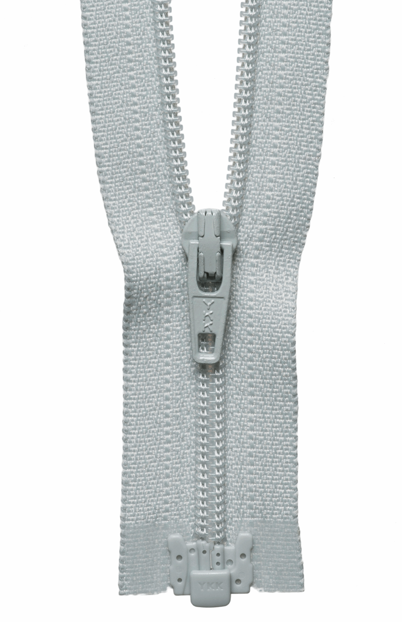 Picture of Light-Weight Open End Zip: 41cm: Pale Grey