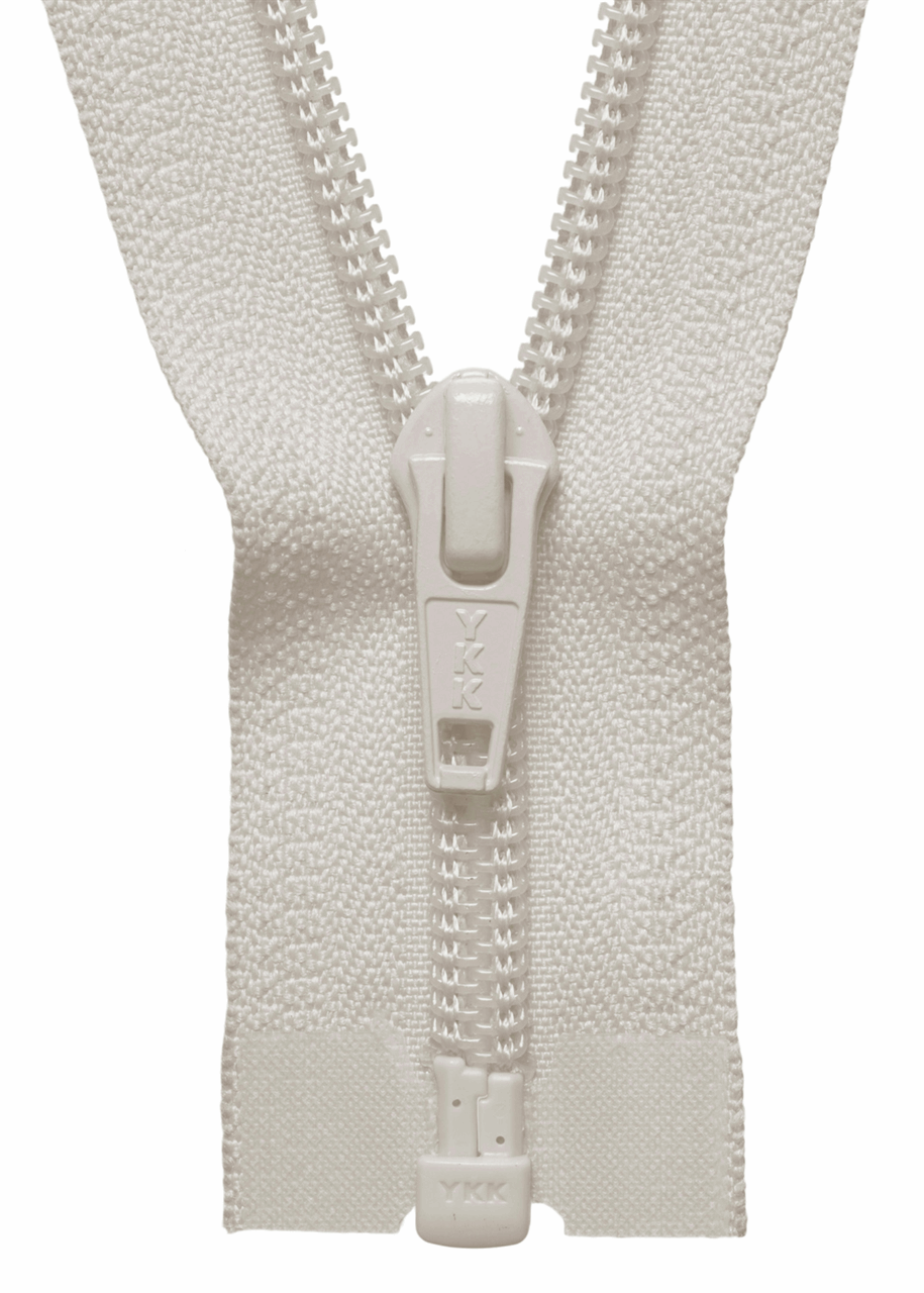 Picture of Nylon Open End Zip: 46cm/18.11in: Ivory